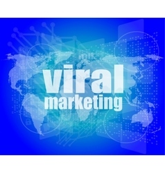 Marketing concept words Viral Marketing on vector