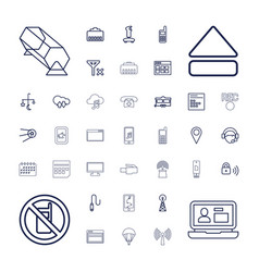 Mobile icons vector