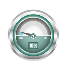 modern speedometer in metal corpus isolated vector image