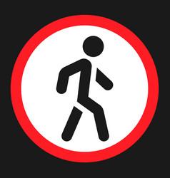 no pedestrians sign flat icon vector image