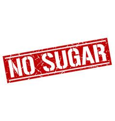 No sugar square grunge stamp vector