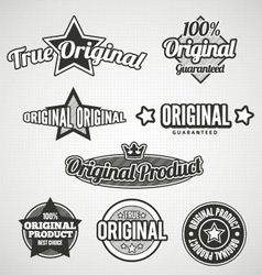 Original Labels Black and white vector image