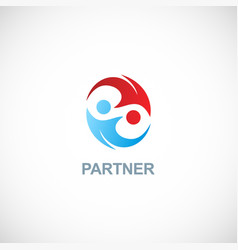 partner colored logo vector image