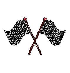 racing flag doodle vector image
