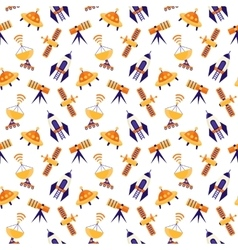Seamless cute space pattern vector image