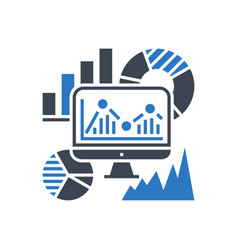 seo audit glyph icon vector image