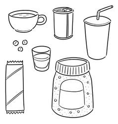 set coffee vector image