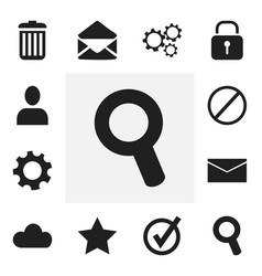 Set of 12 editable web icons includes symbols vector