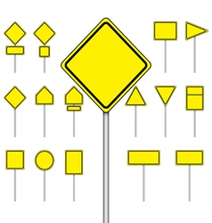 Set of blank road sign vector