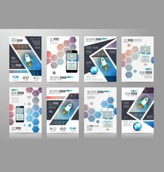 Set of brochure templates flyer designs or vector