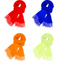 Set of colorful scarfs vector