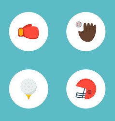 set of sport icons flat style symbols with hook vector image