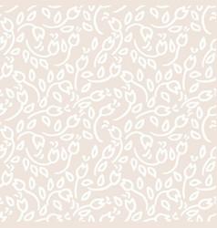 Simple beige flowers seamless pattern vector