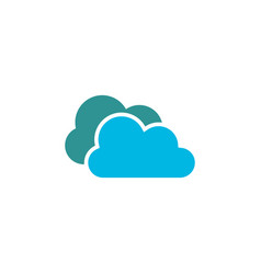 simple cloud logo icon design template vector image