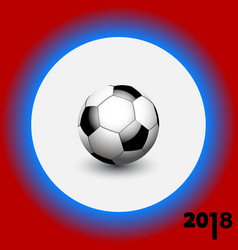 Soccer football on white blue and red background vector