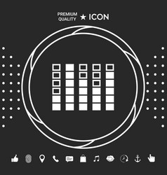 Spectrum analyzer equalizer icon graphic vector