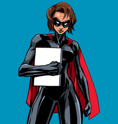 superheroine holding book vector image
