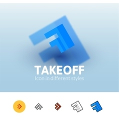 Takeoff icon in different style vector image