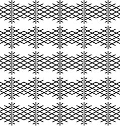 Tile black and white pattern or nordic background vector