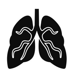 tuberculosis lungs icon simple style vector image