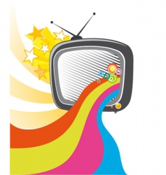 tv poster vector image