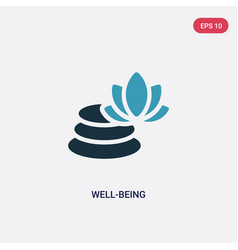 Two color well-being icon from sauna concept vector