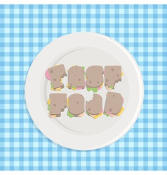 typographic sandwiches vector image