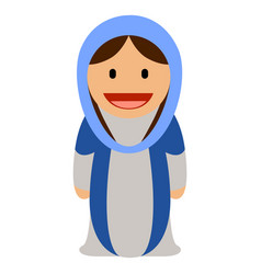 virgin mary icon vector image