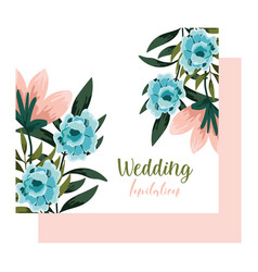 wedding ornament floral decorative greeting card vector image