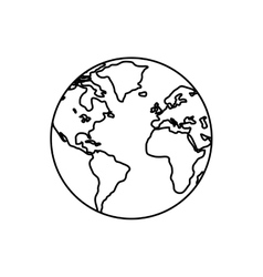 World earth map vector