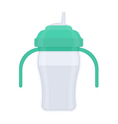 Baby sippy cup isolated on white vector