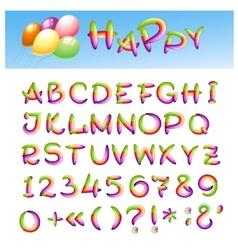 Happy Alphabet vector image