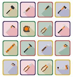 repair tools flat icons 20 vector image vector image