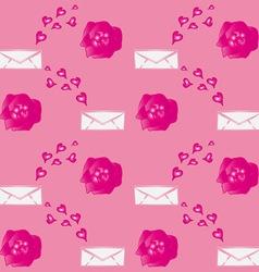 Valentine Flowers Envelopes vector image vector image