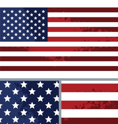 Vintage Distressed American Flag Background vector image