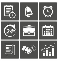 Business Time icons vector image vector image
