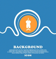 Dress Icon sign Blue and white abstract background vector image