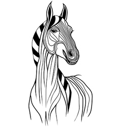 Horse head animal for t-shirt vector image