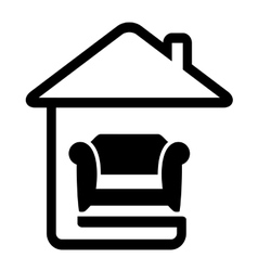 interior icon with armchair on home vector image