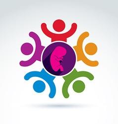 Pregnancy and abortion idea baby embryo symbol vector image vector image