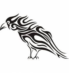 raven tribal tattoo vector image vector image