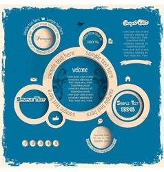 Vintage web design bubbles vector image