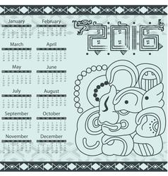 Calendar in aztec style with hieroglyphs vector image vector image