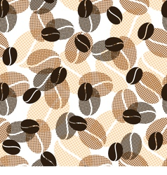 Coffee pattern vector image vector image