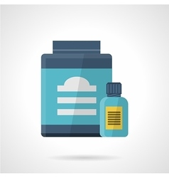 Flat color style icon for sport supplements vector