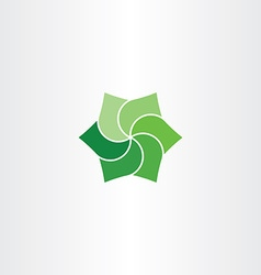 Green leaves clip art icon eco symbol vector