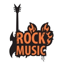 inscription of rock music vector image vector image