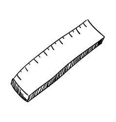 school ruler draw vector image
