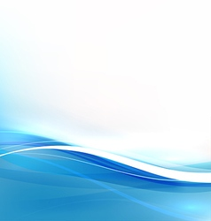 Abstract background with transparent blue wave vector image
