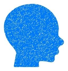 Boy Profile Grainy Texture Icon vector image